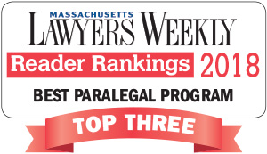 Massachusetts Lawyers Weekly Reader Rankings 2018 - Best Paralegal Program